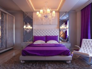 luxury violet bedroom