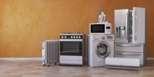 Home appliances in an empty room