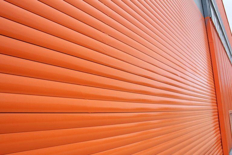 Orange aluminum siding