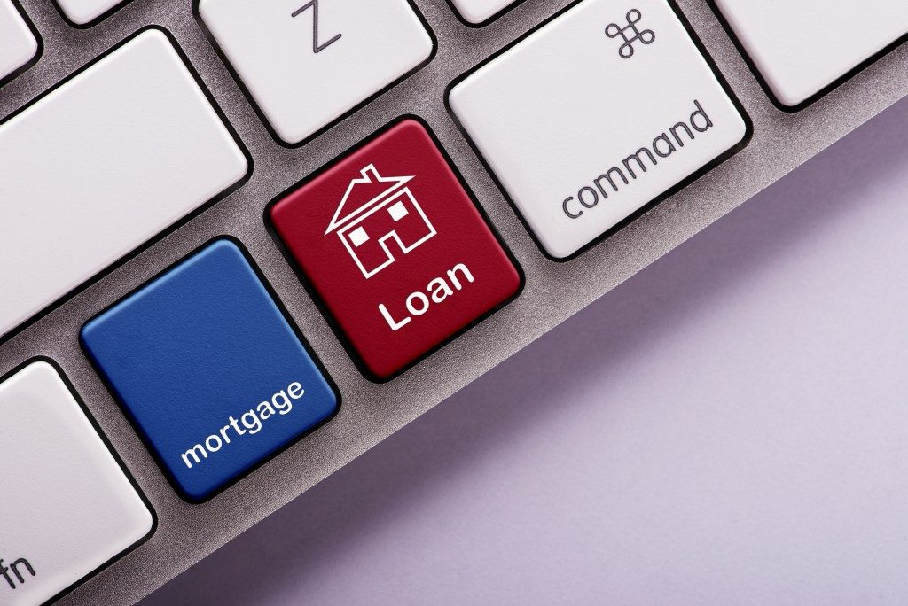 mortgage and loan keyboard keys