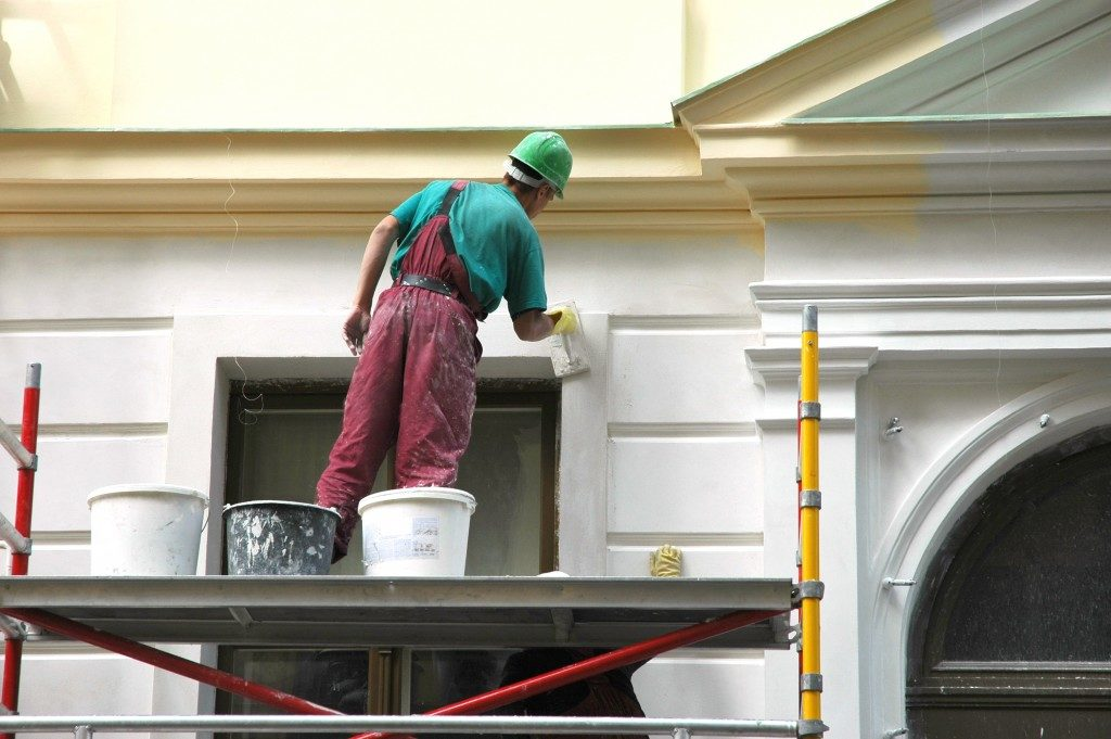 painting exterior of house