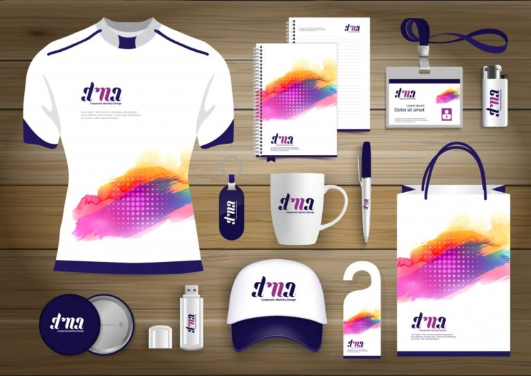 brand merchandise mockup