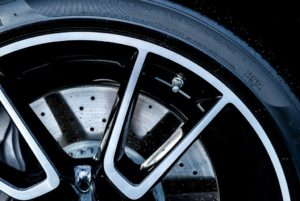 car rims isolated on black background