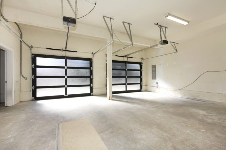 Empty house garage