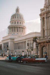 white concrete building in Cuba