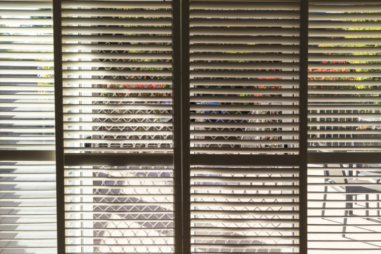 shutters of a house