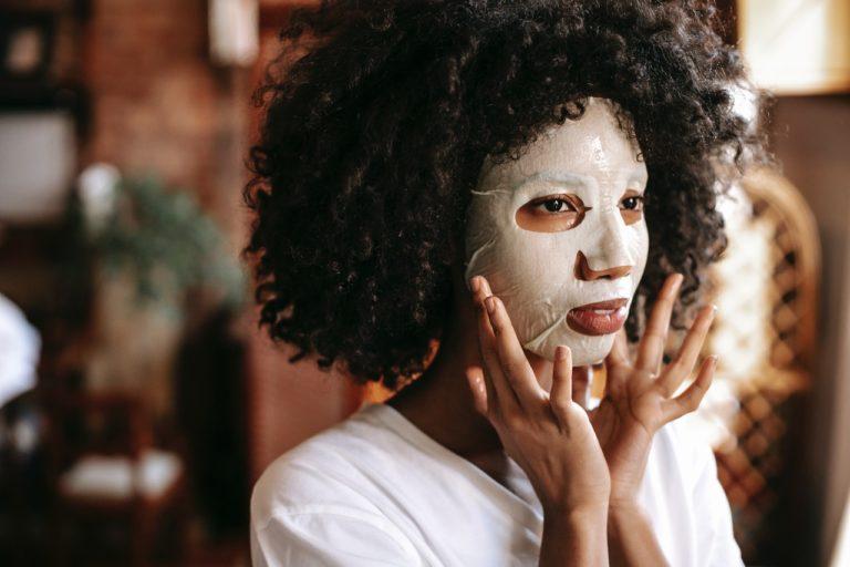 woman facial care