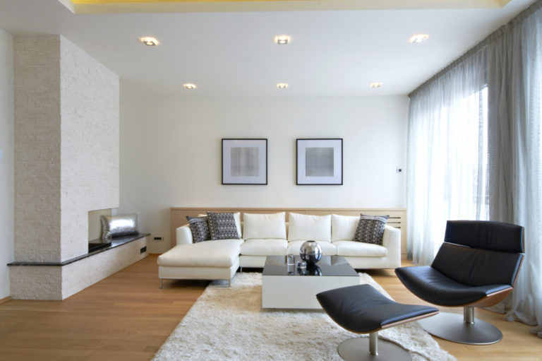 clean modern home