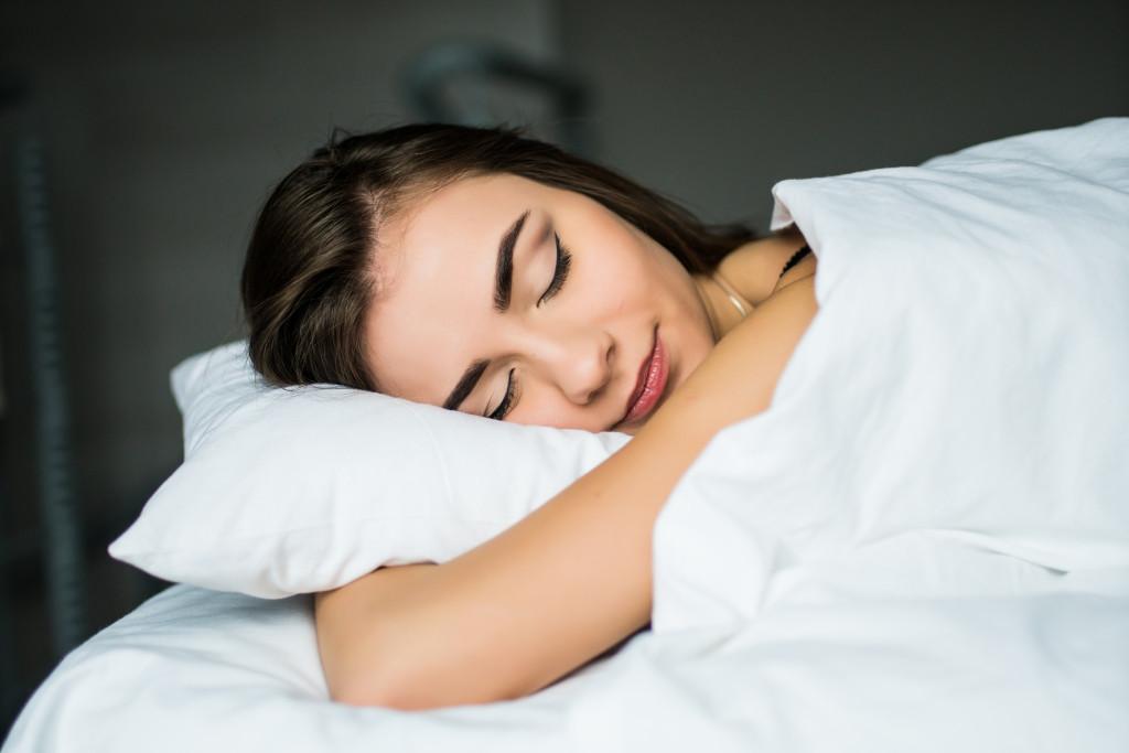 woman sound asleep